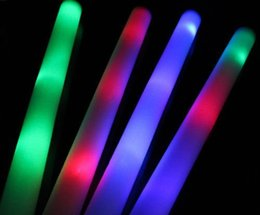Glows Sticks Australia - glow stick Multicolor LED Flashing Light Effect Sticks Color Changing Foam Baton Strobe for Party Festivals Raves Birthdays ChildrenToy