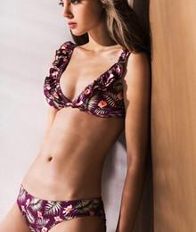 $enCountryForm.capitalKeyWord Australia - Two Piece Swimsuit for Women Tankini Mujer 2019 Biquini Brazilian halter floral  ruffle bikini Swimsuits Women Swimwear