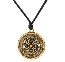 $enCountryForm.capitalKeyWord NZ - QQ16 Fashion Vintage Norse Vikings Necklace Gold Silver Plated Myth Rune Amulet Pendant Necklace