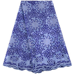 Wholesale swiss voile lace nigeria resale online - High Quality African Lace Fabric Fashion Swiss Voile Laces French Dry Cotton Lace Nigeria Dresses For Women A1482