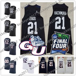 68cae4161 Custom Gonzaga Bulldogs Navy Black White Stitched Any Name Any Number 21  Rui Hachimura 2019 NCAA Final Four College Basketball Jerseys