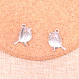 Bird Bracelets online shopping - 118pcs Antique Sliver bird Charm Pendant DIY Necklace Bracelet Bangle Findings mm