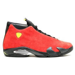 Race Candy UK - 14 14s Men Basketball Shoes Desert Sand DMP The Last Shot Thunder Black Toe Candy Cane Red Suede Designer Trainer Sports Sneakers
