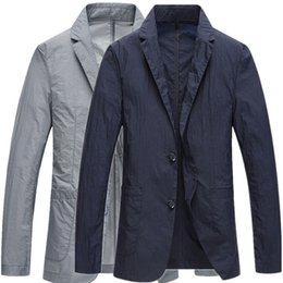 Clothes Single Australia - Light and fast dry casual suit single layer breathable small suit ultra-thin sun protection clothing outdoor summer skin clothing men's jack