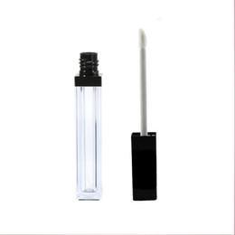 lip oils UK - 5ml lipgloss Containers Empty Clear Lipgloss Tube Bottle Eyeliner Eyelash Oil Container Mini Lip Gloss Split Bottle