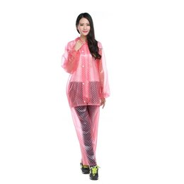 waterproof long raincoat NZ - Transparent Raincoat Women Waterproof Long Rainwear Outdoor Capa de Chuva Layer Awning Regenjas Rain Poncho Raincoat Cute QQG299
