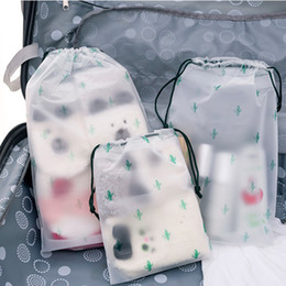 roll up travel cosmetic bag NZ - Cactus Transparent Scrub Cosmetic Bag Travel Makeup Case Women Zipper Make Up Bath Organizer Storage Pouch Toiletry Wash Beauty C19042101