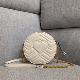 High End Hand Bags Australia - High-end customized quality soft hand handbag designer cross body bag fashion heiress style Ophidia series round dinner bag