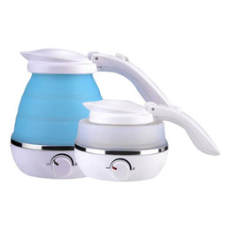 drinking water pots UK - Portable Folding Silicone Water Kettle 1.5L Water Pot Outdoor Camping Travelling Hiking Kitchen Tools Tea Coffee Kettle