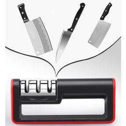Household Alloys Australia - Kitchen Tool Sharpeners Handle Household Knife Grindstone Hard Alloy Ceramic Knife Sharpener Coarse Fine Sharpening Stone BC BH1021-1