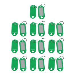 $enCountryForm.capitalKeyWord Australia - 20 Pcs Assorted Key ID Label Tags Split Ring Keyring Keychain (Green).