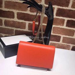 $enCountryForm.capitalKeyWord Australia - 2018 NEW Fashion brand high quality leather pure color women receive classic CF women WOC cosmetic bag metal letters logo luxury bags