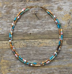 unique seeds Australia - Women Choker Semi Precious Stone Seed Beads Choker Necklace Unique Womens Simple Collar Necklace Dropshipping Bohemia Jewelry V191128