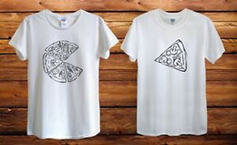 food t shirts Australia - Pizza Matching Couple Anniversary Food Design T Shirt Men Unisex Women Fitted