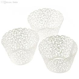 $enCountryForm.capitalKeyWord Australia - Wholesale-Kimisohand 100 Filigree Little Vine Lace Laser Cut Cupcake Wrapper Liner Baking Cup