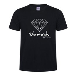 skate clothes women NZ - New Summer Cotton Mens T Shirts Fashion Short-sleeve Printed Diamond Supply Co Male Tops Tees Skate Brand Hip Hop Sport Clothes