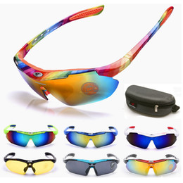 Black Plastic Carrying Case NZ - With Carry Case Sunglasses Cycling Outdoor Sports Sunglasses Dazzle Color UV400 lens Summer Sunglasses Beach Sun Glasses 14 Colors