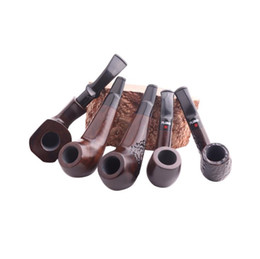ingrosso polli neri-Nuovo tipo di coscia di pollo Palm Pipe Black Sandal Straight Filtration Pipe Wood Old fashioned Small Pipe