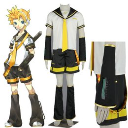 vocaloid christmas cosplay Australia - costume High Quality Vocaloid 2 Len Kagamine Costume Formula for Cothing Boy len kagamine cosplay