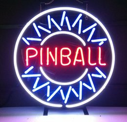 pinball signs UK - New Star Neon Sign Factory 16X16 Inches Real Glass Neon Sign Light for Beer Bar Pub Garage Room Pinball Game Room.