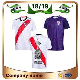 river plate jerseys 2019 - 2019 River Plate home white Soccer Jersey River Plate away red Soccer Shirt 18 19 riverbed Customized football Uniform S