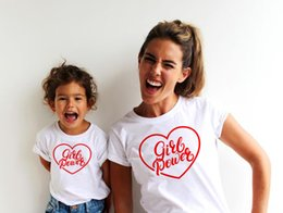 $enCountryForm.capitalKeyWord NZ - Mom Baby Girl Power Matching Shirt T-Shirt Family Outfit Clothes Summer Short Sleeve Casual T Shirt Family Look