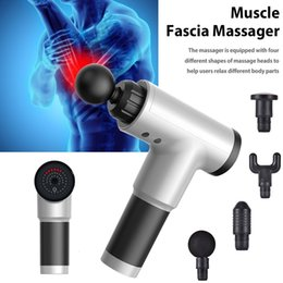 body sauna Canada - Electric Muscle Massage Gun Deep Muscle Fascia Tissue Massager Therapy Gun Exercising Muscle Pain Relief Body Shaping SH190928
