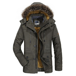 $enCountryForm.capitalKeyWord UK - Winter Jacket Men Casual Fur Collar Thicken Coat Plus Velvet Windbreaker Parkas Size 5XL 6XL Mens Winter Outwear Long Overcoat