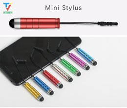 ipad mini pens NZ - Mini Stylus Touch Pen Universal Metal Stylus Touch Capacitive Screen Pen For iPad for iPhone for Samsung Tablet PC 500Pcs lot
