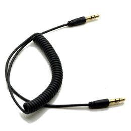 Replacement caR steReos online shopping - 3 mm Male to Male M M Plug Jack Stereo Headphone Audio Coiled Fluoro AUX Extension Cable Replacement Spring for Car Speak Cell Phone