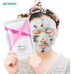 $enCountryForm.capitalKeyWord Australia - HEMEIEL Detox Oxygen Bubble Sheet Mask Korean Cosmetic Moisturizing Bamboo Charcoal Black Face Mask Facial Skin Care