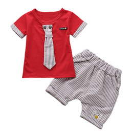 $enCountryForm.capitalKeyWord UK - 1-4 Years Baby Boy Clothing Set Gentleman Handsome Boys T-Shirt Summer+Short Pant Suits Kids Clothes For