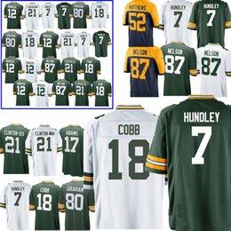 7 Brett Hundley Jerseys 18 Randall Cobb Green Bays Packer 37 Josh Jackson  21 Ha Clinton-Dix 17 Davante Adams 12 Aaron Rodgers Jersey top 862776801