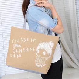 $enCountryForm.capitalKeyWord Canada - Cheap Fashion Cute Printing Women Canvas Bags Shoulder Bag Casual Handbag for women 2018 fashion casual shoulder bags 0814
