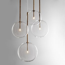 modern glass bottle pendant lights 2021 - 2020 Clear Simple Creative Glass Lights Bar Coffee Shop Simple Chandelier Iron Droplight Experimental Bottle Lampr Frosted Glass