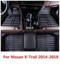 interior carpet NZ - Suitable For Nissan X-Trail 2014-2018 PU floor mat carpet car interior leather pad car mat waterproof pad