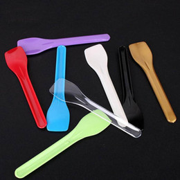 Ice cream spoon dIsposable plastIc online shopping - New Design Disposable Plastic Spoons Ice Cream Spoon For Party Birthday Separate Packaged Cake Dessert