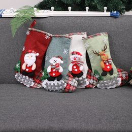 $enCountryForm.capitalKeyWord Australia - Santa Snowman Christmas Stockings Socks Xmas Tree Pendant Hanging Ornaments Candy Gift Bags Home New Year Party Decoration 62731
