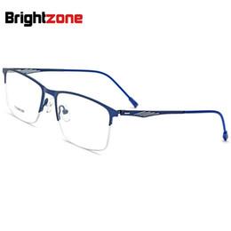cb82937be18 5 Colors Options No-Screw Unique Hinges Square Half Rim Spectacle Frame  Business Affairs Glasses Frame Man Glass Oculos De Grau