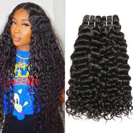 Big wave weaves online shopping - Long Water Wave Human Hair Bundles Peruvian Hair Bundles Big Curly Water Wave Peruvian Hair Weaving Unprocessed Virgin Curly Bundles