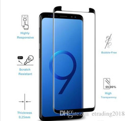 $enCountryForm.capitalKeyWord Australia - Case For Samsung Galaxy S9 S8 Plus Note 9 8 S7 S6 Edge 3D Curve Edge HD Clear Tempered Glass Screen Protector With Package