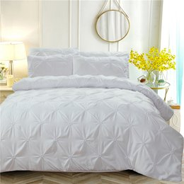 designer double beds 2019 - Luxury Duvet Cover White Solid Designer Bedding Set 3pcs Queen King Twin Size for Adults Bedclothes Bedspreads for Doubl