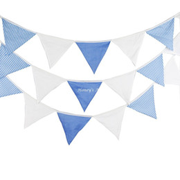 $enCountryForm.capitalKeyWord NZ - 5.4M 24flags Blue White Fabric Bunting Personality Wedding Birthday Party Decoration Baby Shower Customize Garden Room Garland