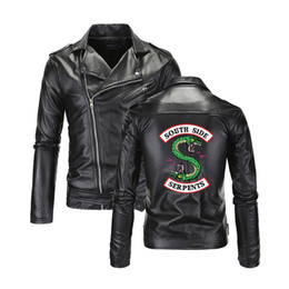 veste décontractée achat en gros de-news_sitemap_homeCool Southside Riverdale Turn Col Down Vestes en cuir Serpents hommes Riverdale Streetwear cuir Marque South Side Serpents Taille M XL