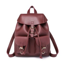 $enCountryForm.capitalKeyWord Australia - 1Trendy Female Drawstring Pu Leather Backpacks Teenage Girls Shoulder Bags Small School Bags Women High Quality Casual Rucksack