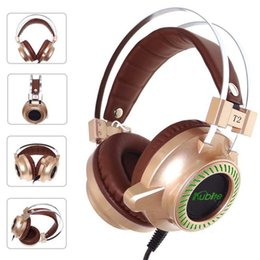Computer Wireless Headphone Microphone Australia - T2 Wired Gaming Headset High quality Deep Bass Game Earphone Computer headphones with microphone led light headphones for computer pc