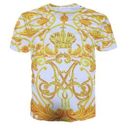 Flower Print T Shirt Men Australia - gklo Fashion Brand Men Golden Flower Luxury medusa T-shirt Summer 3D Print Blue T-Shirt Homme Short Sleeve Royal Baroque Men Clothes Tops