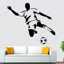 football murals Canada - Football Boy Wall Art Decals Wall Stickers Murals Art For Kids Room Bedroom Living Room Backdrop Decoration wallstickers LW597