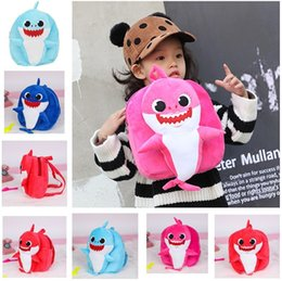 Corduroy baCkpaCks wholesale online shopping - Baby Shark Backpacks School Backpack Cartoon toddler borsetta Plush Kindergarten Boys and Girls Plush Canvas School Bags DLH041