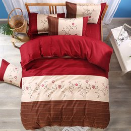 $enCountryForm.capitalKeyWord Australia - Thumbedding Dropship Red Flowers Bedding Sets Rose Printed Striped Colorful 3D Duvet Cover Set Beautiful Landscape Bedclothes